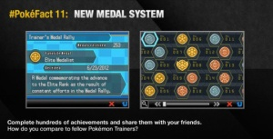 Pokemon Black and White had a 'medal' system, which was basically just achievements
