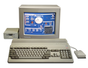 The Amiga 500, the first major Amiga model