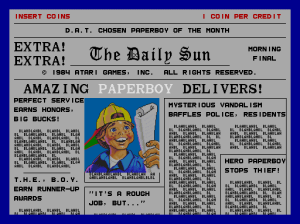 My plan is to not to be Paperboy, but the guy who writes in to the letters page of the newspaper that Paperboy delivers