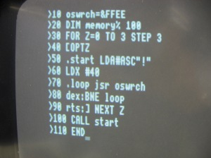 Ah, the joys of programming in BASIC