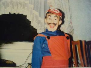 Me as a child. Trust me, it was Halloween