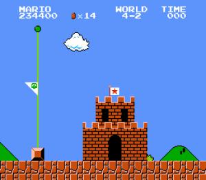 Mario flag at half-mast