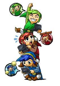Zelda Tri Force Heroes artwork