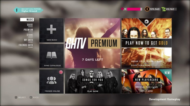The GHTV mode in all its glory. This is Guitar Hero Live's secret weapon