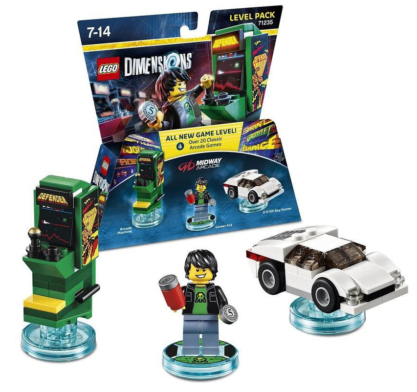 Lego Dimensions – Midway Arcade level pack review – Tired Old Hack