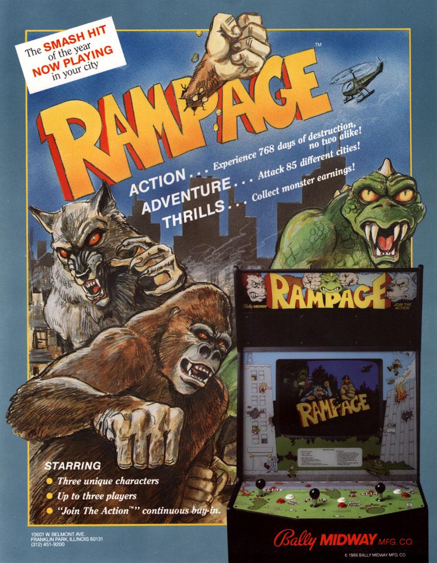 Rampage Arcade Flyer Retro Games Wikipedia
