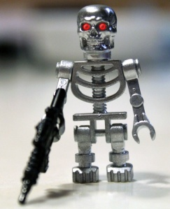 A custom Lego Endoskeleton