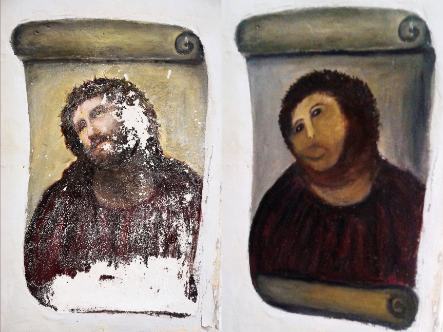 The botched Spanish fresco my video was based on