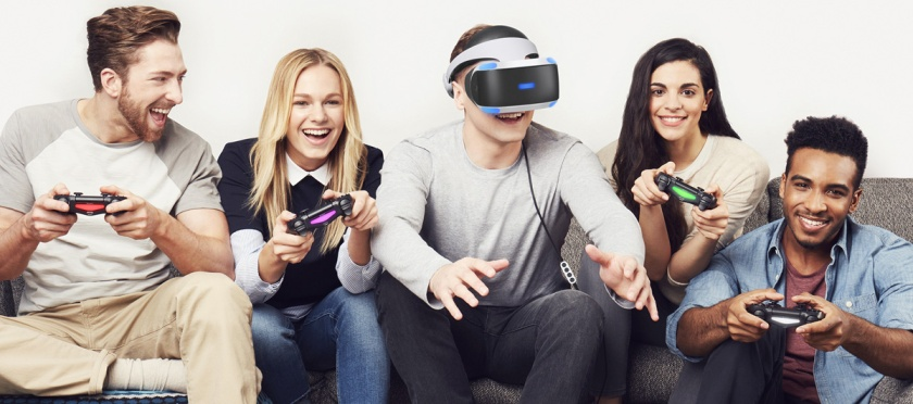 Not sure I buy Sony's 'here's a bunch of utter wanks playing VR' marketing strategy, but then that's why I don't get the big bucks