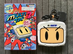 A SNES multitap for 5-player Bomberman